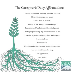 A Caregiver's Daily Affirmation