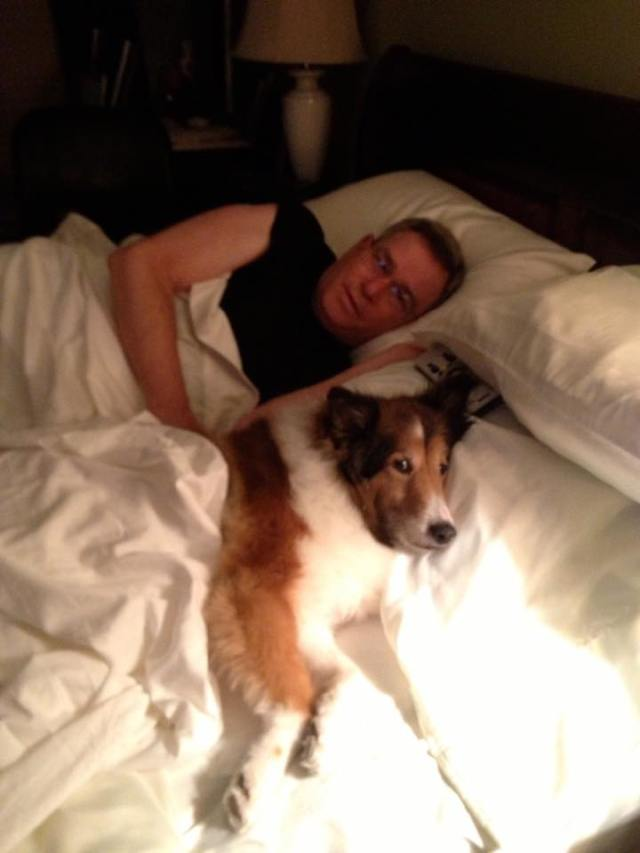Steve and dog Kodie submitted by Rita Landry